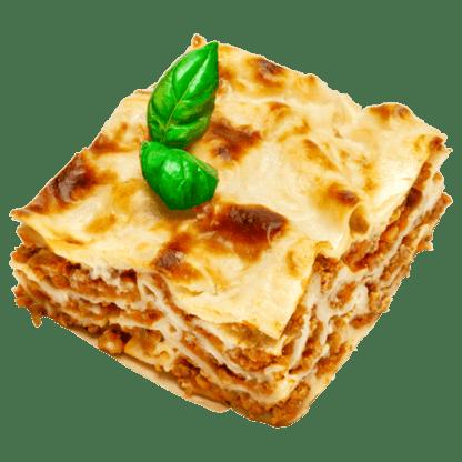 gebackene Lasagne mit Fleischsauce-Bolognese aus 100 % Rindfleisch